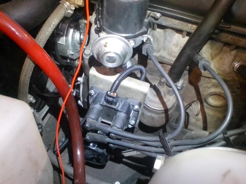 Пример установки катушки 2111 на ВАЗ 2103