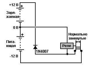 зарядка батареи радиантной энергии на авто реле